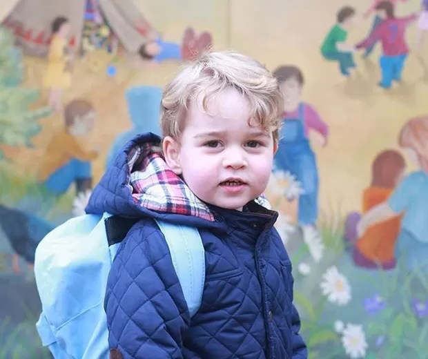 George: na escola (Foto: Reprodução/Instagram)