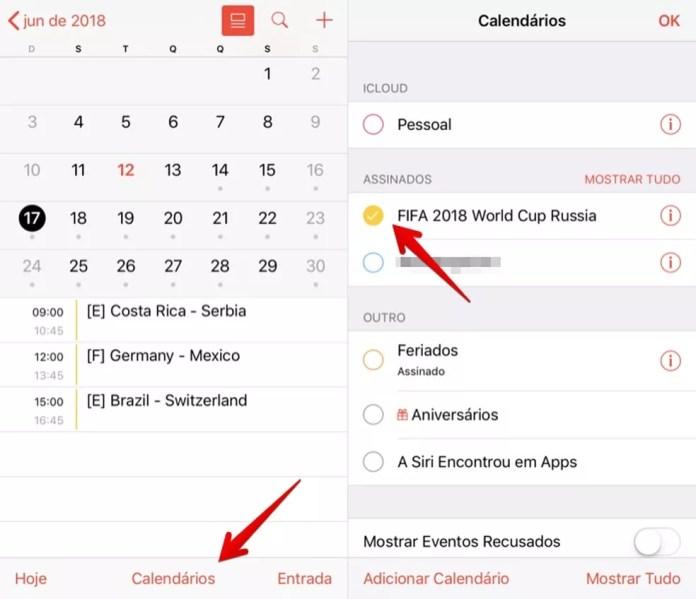 Ativando ou desativando calendário (Foto: Reprodução/Helito Bijora)