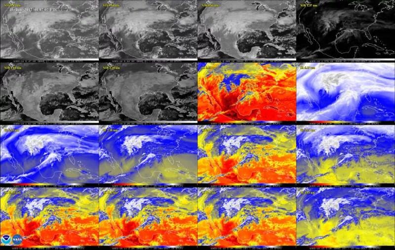 A América do Norte através de 16 canais diferentes (FOTO: NASA/ NOAA)