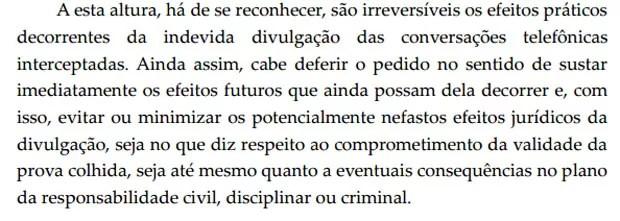 Teori Zavascki frase decisão Moro (Foto: Reprodução)