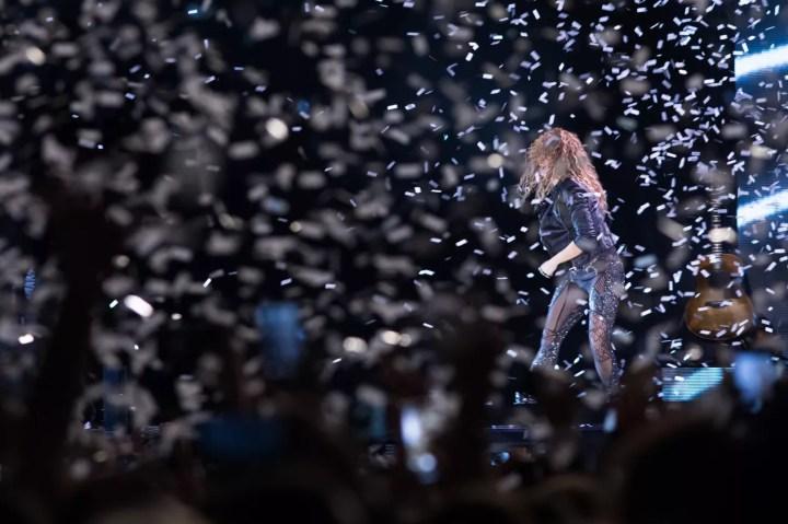 Shakira se apresenta em São Paulo com a turnê 'El Dorado' neste domingo (21) — Foto: Celso Tavares/G1
