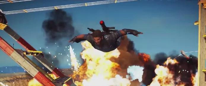 Em meio a todo o caos e explosões que Rico causa em Just Cause 3 há uma estratégia para incitar uma revolução (Foto: Reprodução/YouTube)