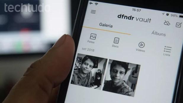 Tutorial mostra como bloquear fotos do iPhone usando o aplicativo DFNDR Vault (Foto: Marvin Costa/TechTudo)