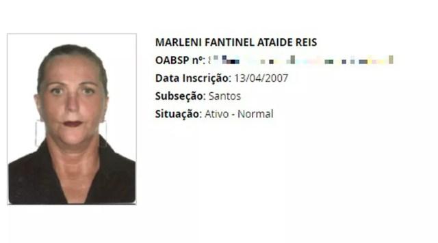 Advogada Marleni Fantinel foi assassinada em Peruíbe, SP — Foto: Reprodução