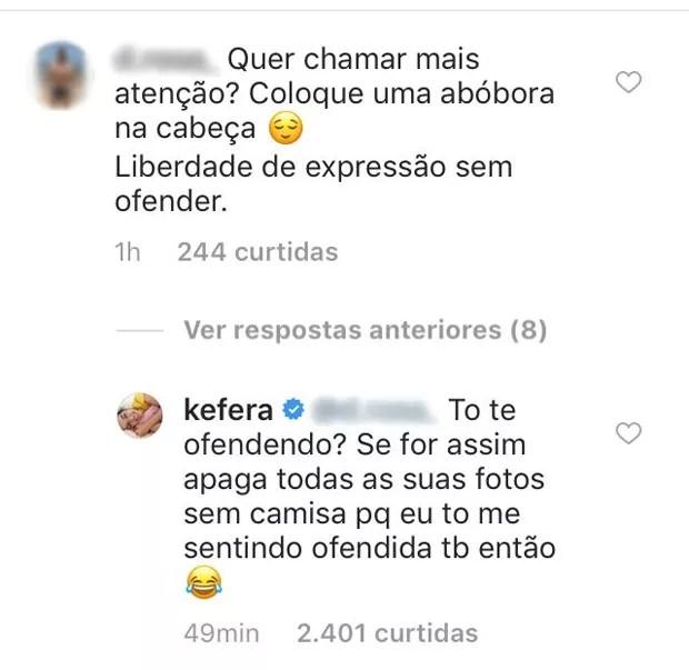 Resposta de Kéfera (Foto: Reprodução/Instagram)
