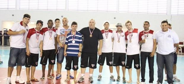 Jogos Abertos 2013 - futsal Suzano bronze (Foto: Thiago Fidelix)