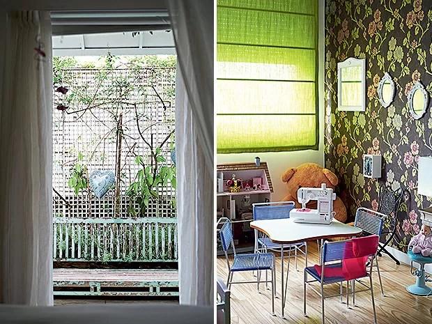 Terraço | A área é ligada ao quarto da menina, que faz questão de cuidar da pequena horta existente lá  (Foto: Victor Affaro e Carlos Andres Varela)