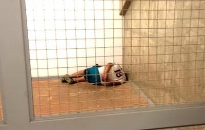 torcedor Barra Brava detido (Foto: Heitor Esmeriz)