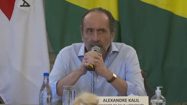 Alexandre Kalil, prefeito de Belo Horizonte — Foto: Reprodução/TV Globo