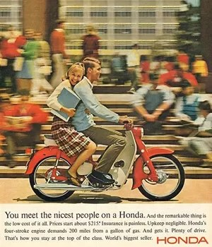 Propaganda da Honda nos anos 60 nos Estados Unidos