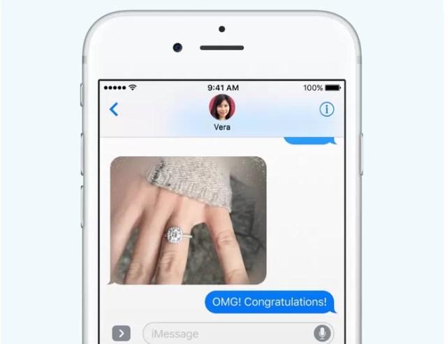 iMessage ganhou funções como o fotos e textos borrados (Foto: Reprodução/Apple)