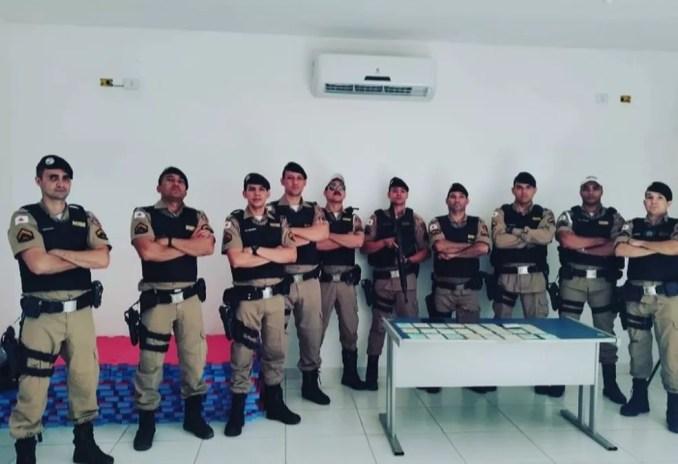 Equipe que participou da prisão — Foto: Polícia Militar / Divulgação