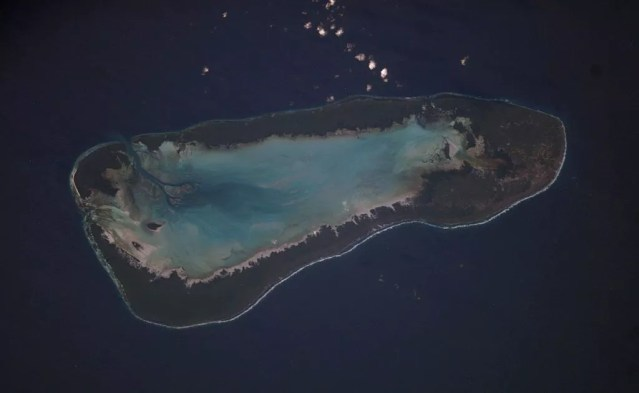 Atol de Aldabra, no Oceano Índico (Foto: NASA/Wikimedia Commons)
