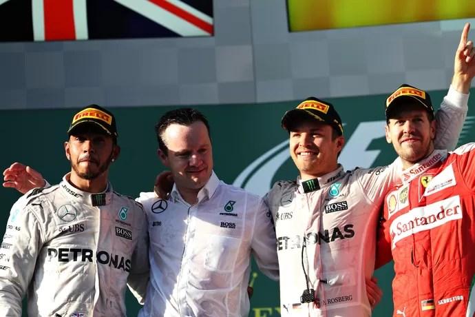 Pódio do GP da Austrália (Foto: Getty Images)