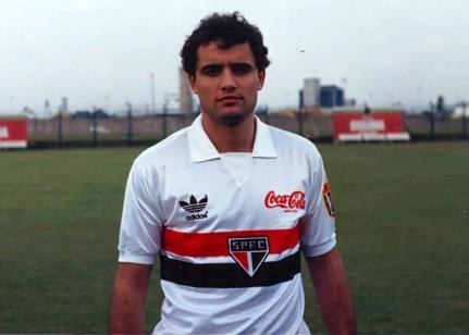 Diego Aguirre foi atacante do São Paulo  em 1990 (Foto: Arquivo Histórico/São Paulo FC)
