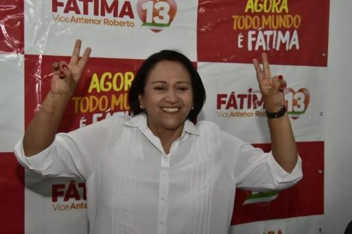 Fátima Bezerra é a governadora eleitoa mais votada da história do Rio Grande do Norte — Foto: Pedro Vitorino