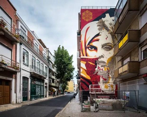 Três roteiros para quem quer ver um pouco da arte urbana que invade Lisboa. (Foto: CML | DMC | DPC | José Vicente 2017)
