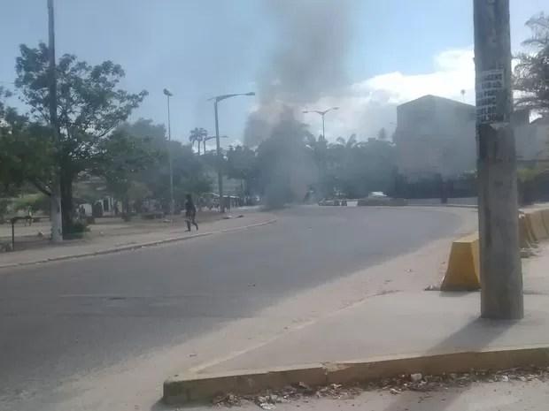 protesto Olinda (Foto: WhatsApp/Reprodução)