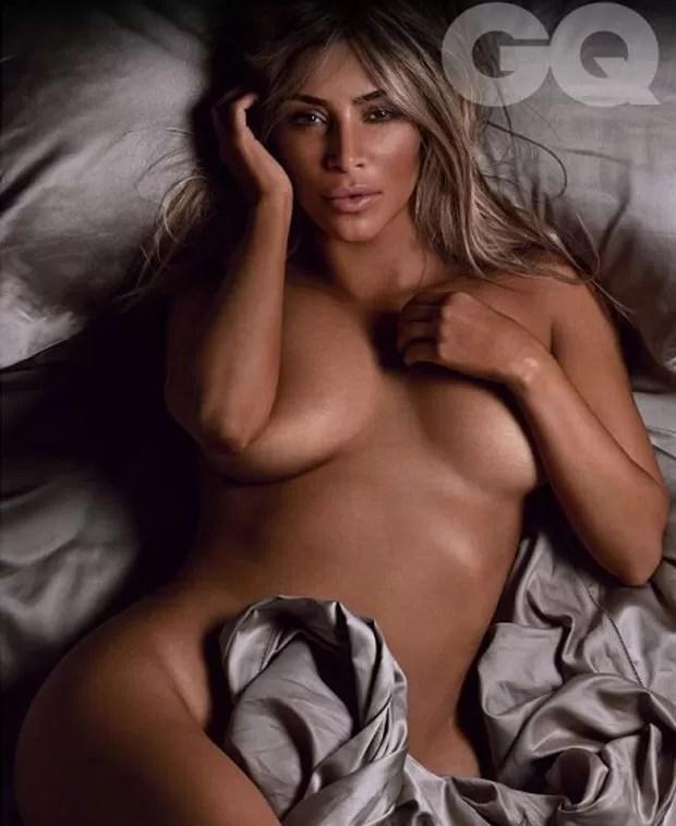Kim Kardashian na GQ britânica de setembro (Foto: Divulgação/GQ.co.uk)