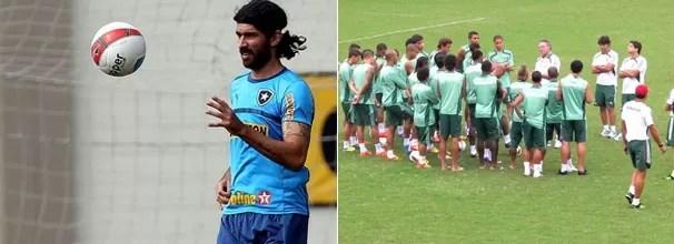 Loco Abreu é a aposta do Botafogo; Fluminense treina com tranquilidade (Foto: Fábio Castro / Agif / Fred Huber / Globoesporte.com)