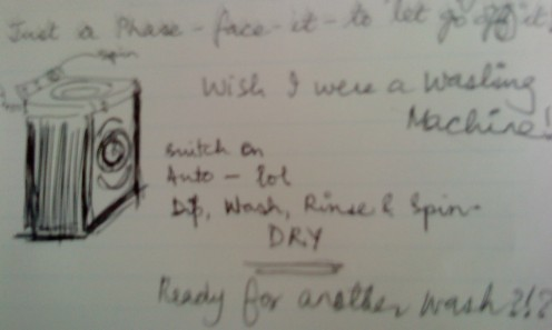 Washing Machine Spin --lol I am happy finding this poem in my notebook!