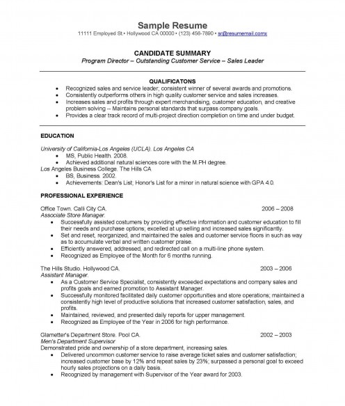 sample college graduate resume effective real life resume for