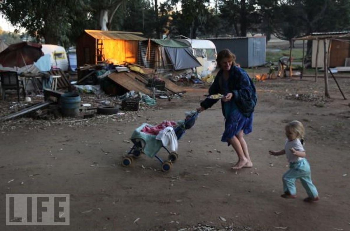 Afrikaner Community suffers economic Hardship In squatter Camp