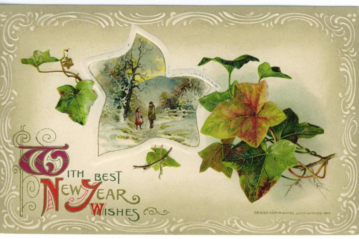 New Year Cards: Ivy