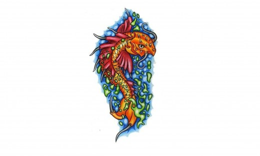 few koi fish tattoo designs and seem to be frequently adding more.