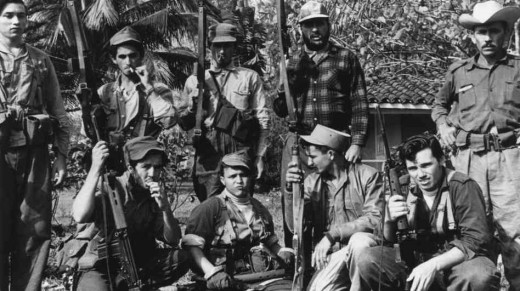 Members of Castro's militia group