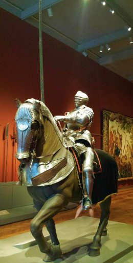 Knight and Horse in Full Set of Armor: personal photo
