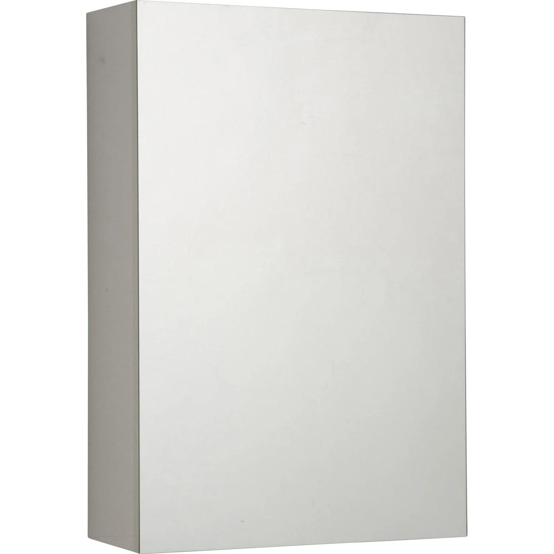 armoire de toilette l 40 cm blanc porte miroir