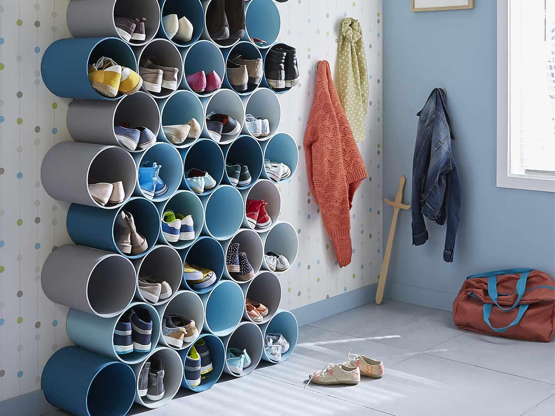 DIY Crer Un Porte Chaussures En Tubes PVC Leroy Merlin