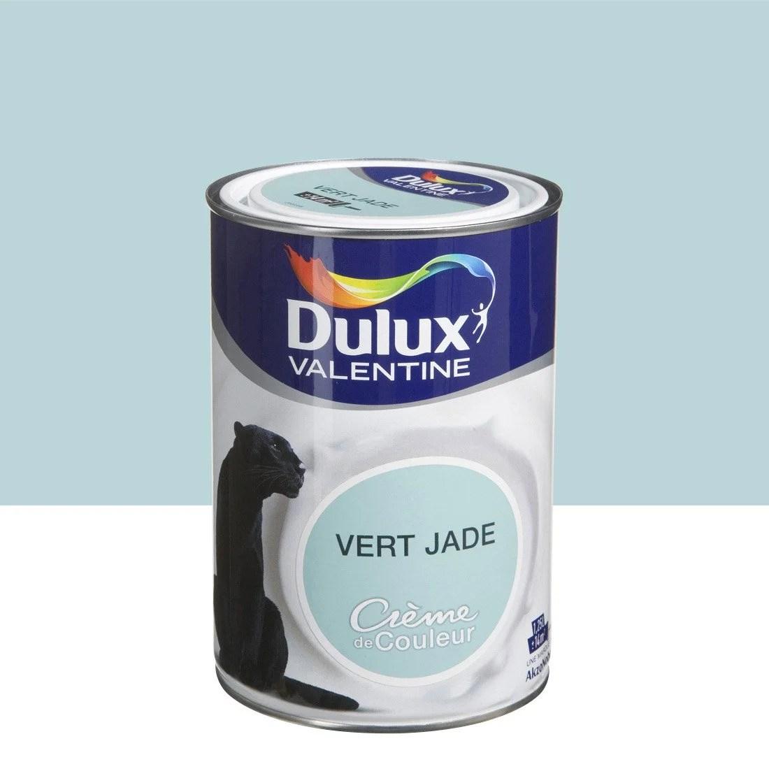 Peinture Vert Jade Satin DULUX VALENTINE Crme De Couleur