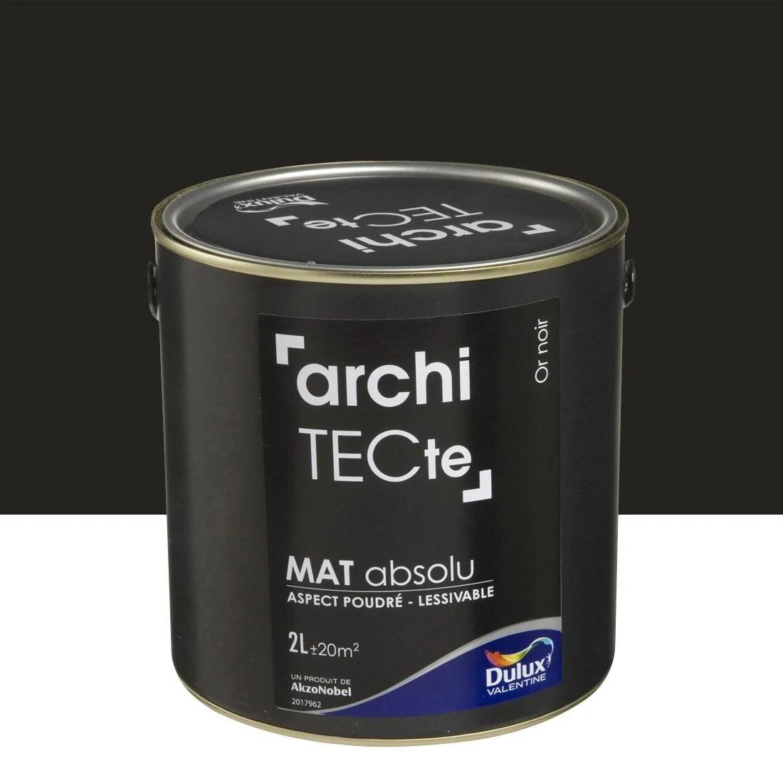 Peinture Or Noir Mat DULUX VALENTINE Architecte 2 L