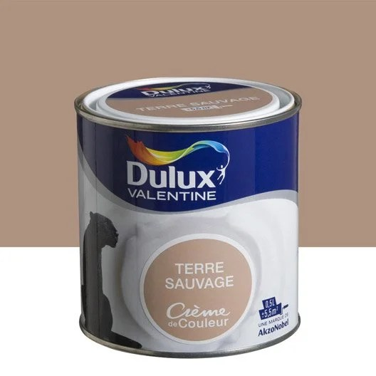 Peinture Brun Terre Sauvage DULUX VALENTINE Crme De