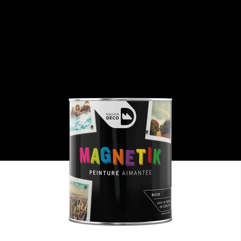 peinture magnetique noir satin maison deco magnetik c est genial