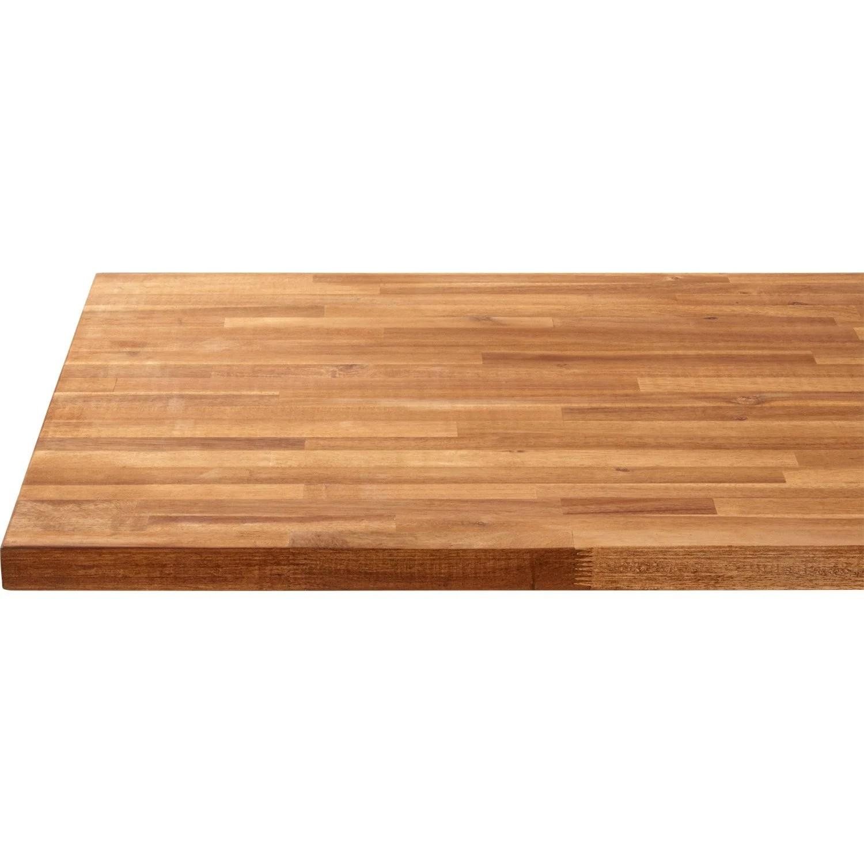 plan de travail bois acacia huile mat l 250 x p 65 cm ep 38 mm