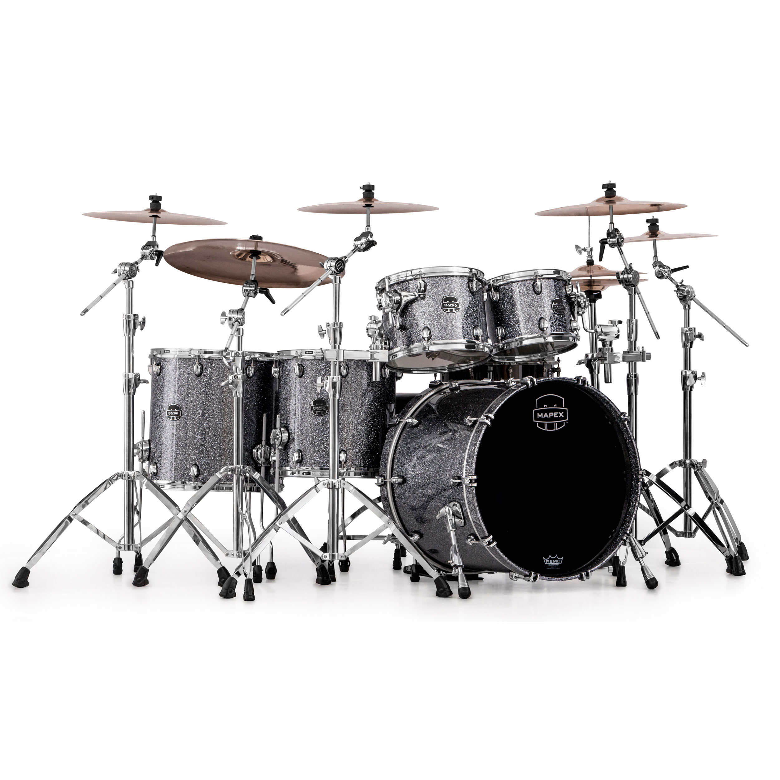 Mapex Saturn Iv Mh 5 Piece Studioease Drum Set Shell Pack 22 Bass 10 12 14 16 Toms Snm628x
