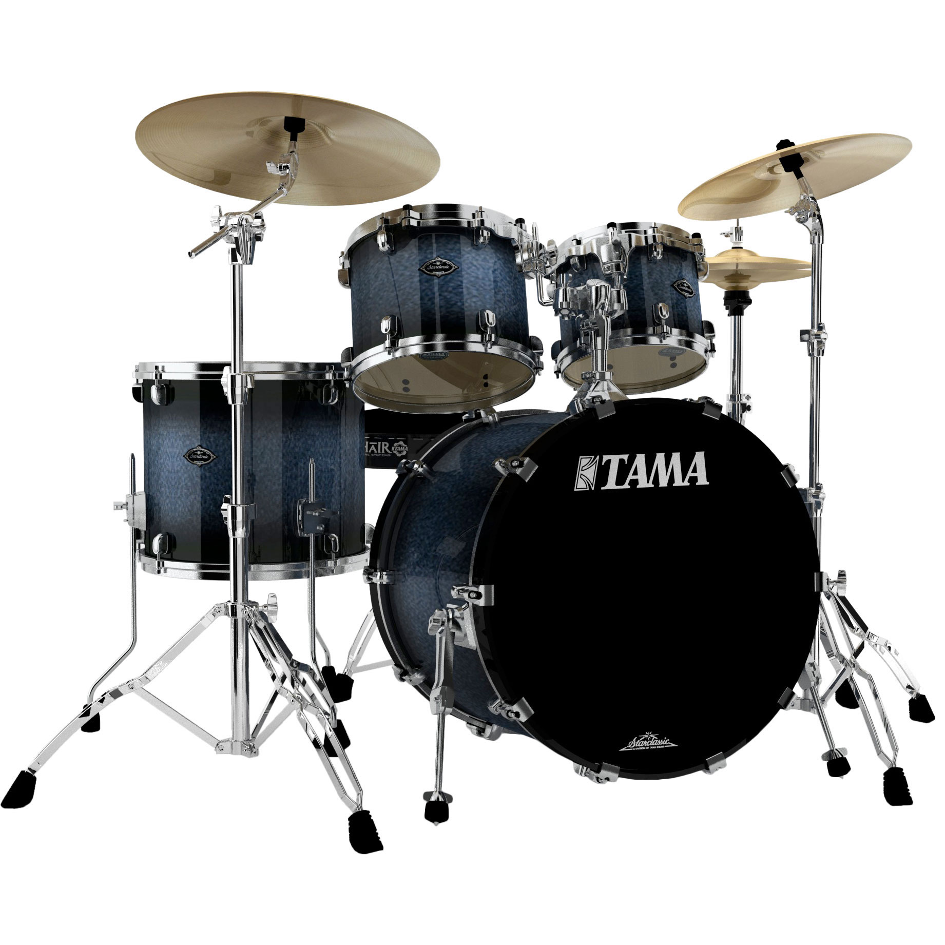 Tama Starclassic Performer B B 4 Piece Drum Set Shell Pack  22  Bass     Alternate Image for Tama Starclassic Performer B B 4 Piece Drum Set Shell  Pack