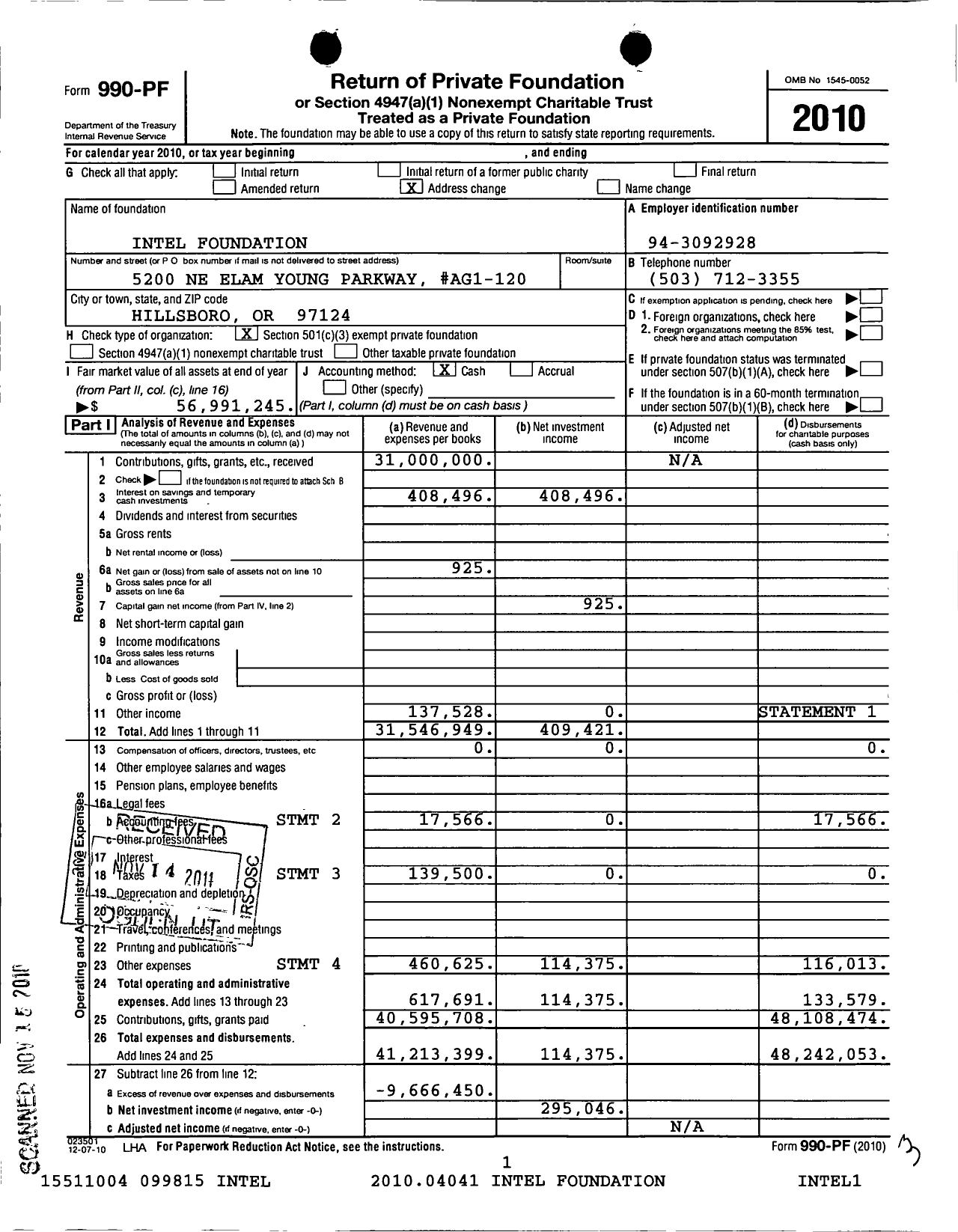 Form 990 Pf Return Of Private Foundation