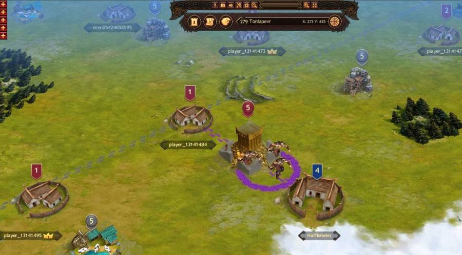 Review of Vikings  War of Clans   MMO   MMORPG Games In Vikings  combat takes place in real time and you can watch your armies  march across the map to their destination