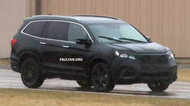 SPIED 2019 Honda Pilot Facelift Spotted Eight Seat SUV