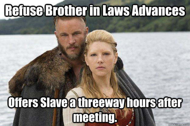 Image result for vikings tv meme
