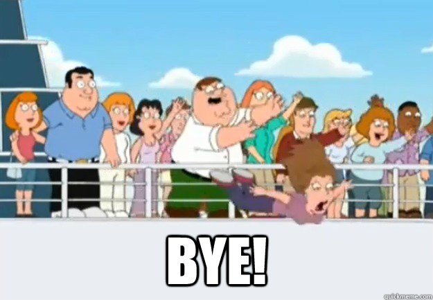Image result for bye family guy gif