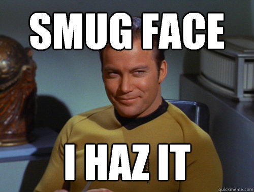 Image result for smug face