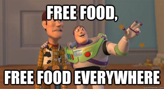 Hasil gambar untuk free food meme