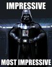 Darth Vader Impressive most impressive