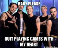 baby please quit playing games with my heart - baby please quit playing games with my heart  Backstreetboys 3
