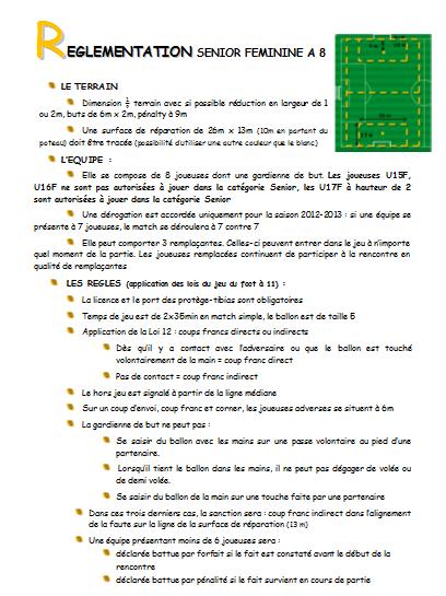 Rglement Football 8 Club Football Union Sportive La